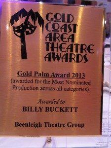 Gold Palm Award 2013: Billy Buckett – Beenleigh Theatre Group
