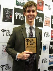 """Palmie Award Winner Scott Young: Best Supporting Actor in a Musical – for the role of """"Pimples"""" in Billy Buckett"""