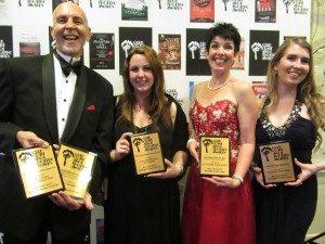 Palmie Award Winners 2013 for Billy Buckett: Jay Turner (Best Sound Design, Best Musical Director), Lana Kristensen (Best Sound Design/Operation), Cath Mundy (Best Musical Director), Hannah Crowther (Best Choreographer)
